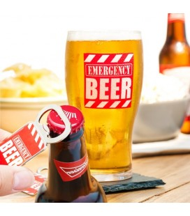 Vaso con Abrebotellas Emergency Beer Gadget and Gifts